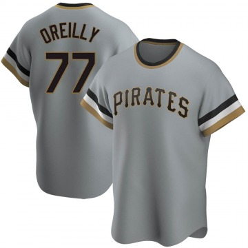 Replica John OReilly Youth Pittsburgh Pirates Gray Road Cooperstown Collection Jersey